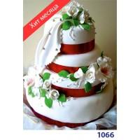 """Торт весільний """"Біла троянда"""""""