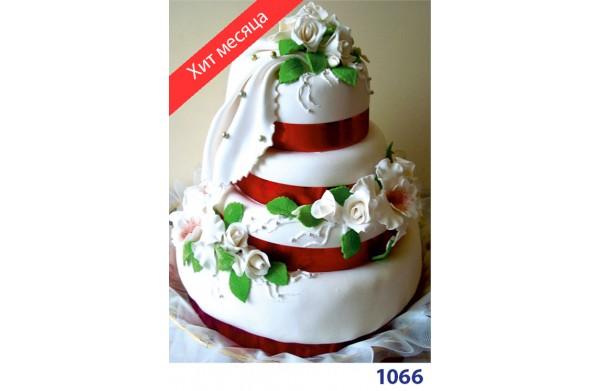 """Фото Торт весільний """"Біла троянда"""""""