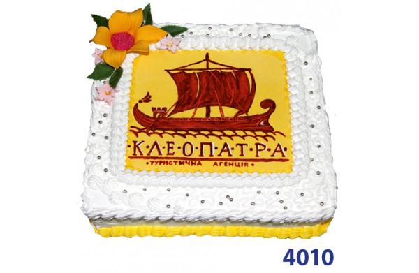 Фото Корпоративний торт з логотипом компанії