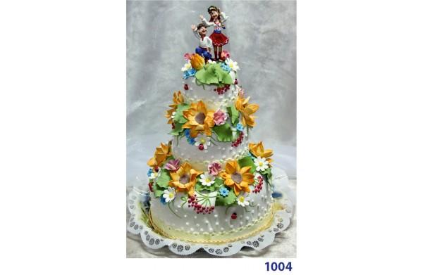"""Фото Торт весільний """"Квітучий сад"""""""
